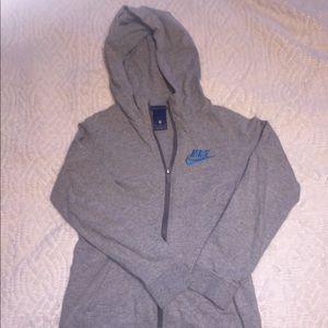Nike full zip hooded sweatshirt youth medium